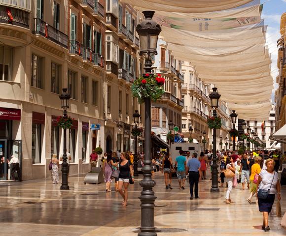 Winkelstraten Málaga