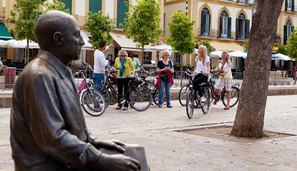 Fietsen in Malaga met gids bij Picasso