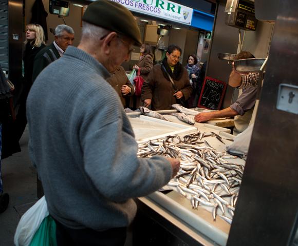 Verse vis op de Malaga markt