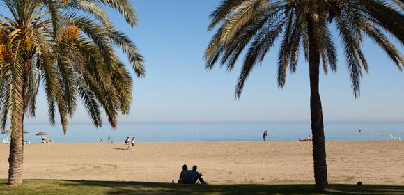 Málaga strand - vakantie Málaga