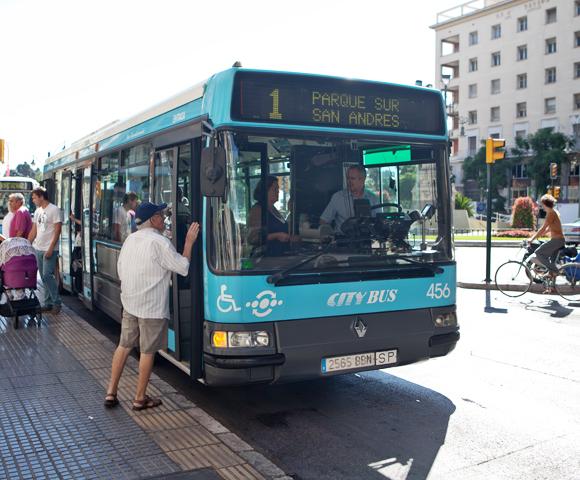 Bus Málaga - stadsbus centrum