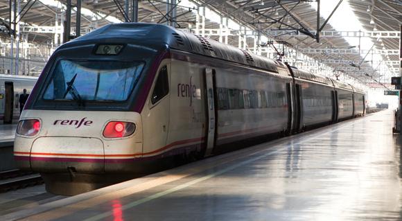 Trein op station Málaga