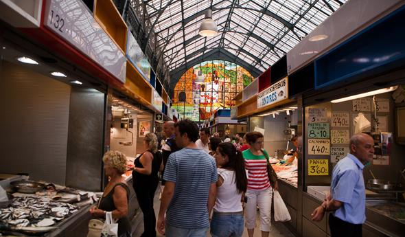 Malaga bezienswaardigheden - markt Malaga