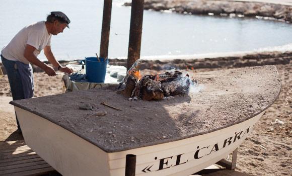 Bereiden van vis in Pedregalejo