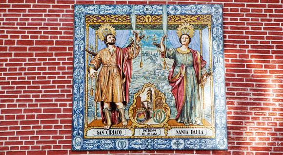 Martelaren in Málaga – patroonheiligen Málaga
