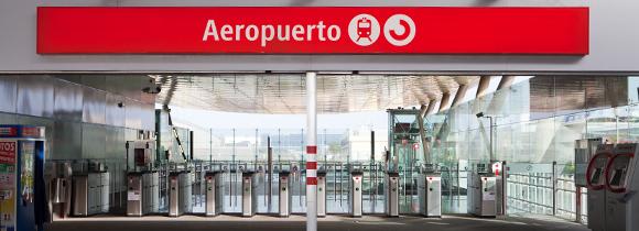 Treinstation op vliegveld Málaga
