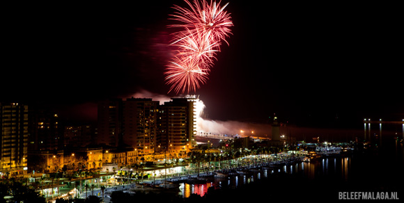 Vuurwerk tijdens feria - Vakantie Malaga
