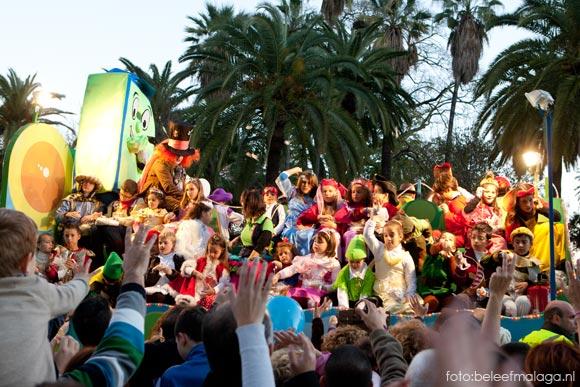 Optocht drie koningen Málaga - 5 januari