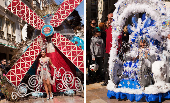 Carnaval Malaga - optocht Malaga centrum