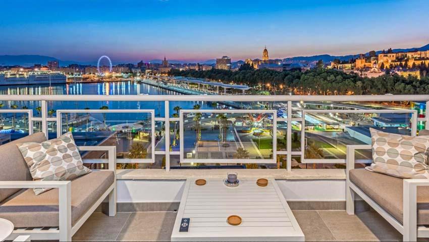 Appartement vakantie Malaga - uitzicht haven en zee