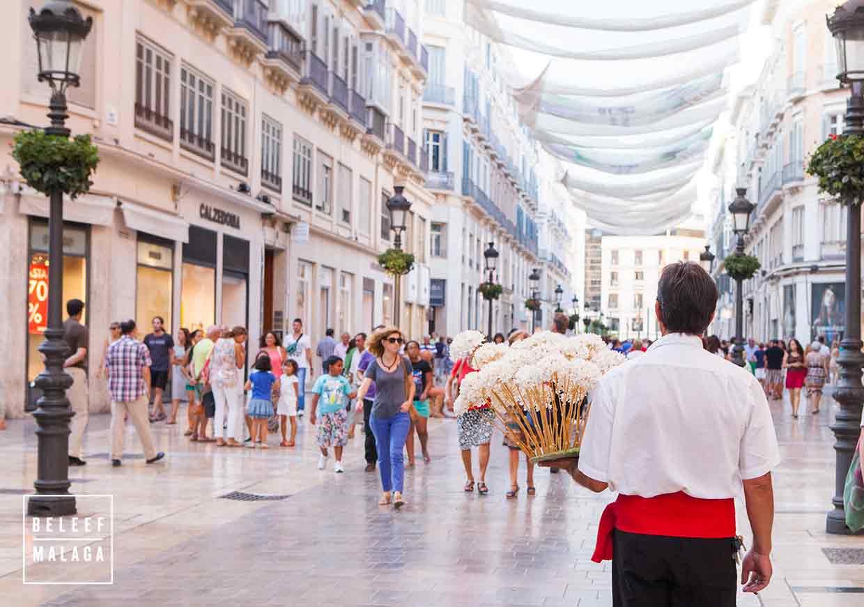 Winkelstraat Malaga stedentrip