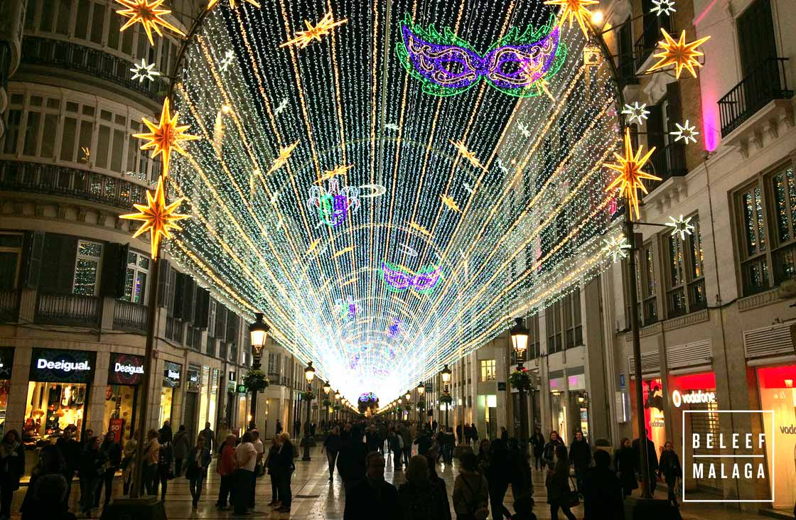 Carnaval Malaga - Feestverlichting
