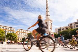 Málaga city fietstour – fietsen in Málaga