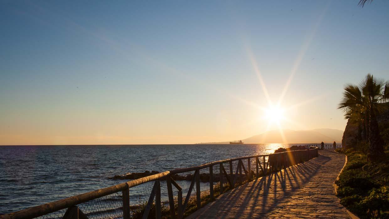 Fietstour Malaga kust - Fietsroute langs het strand