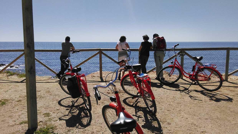 Fietsen langs het strand van Malaga - kust