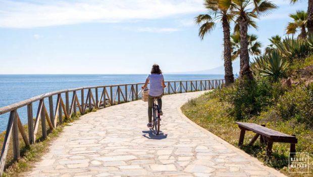 Fietspad langs de kust van Malaga