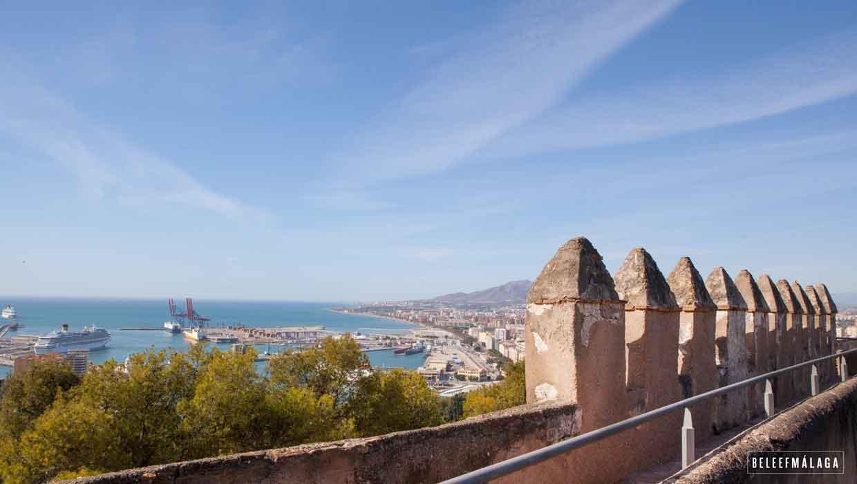 Kasteel Gibralfaro Málaga, geniet van het uitzicht