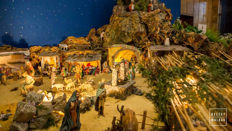 Plattegrond 10 kerststallen Málaga centrum