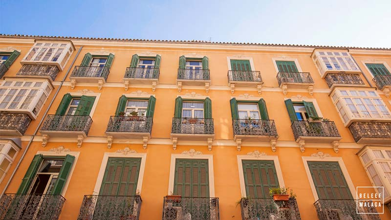 Malaga centrum mooie straten