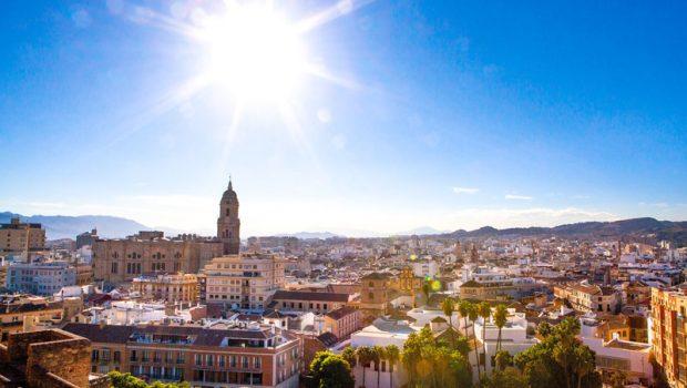 Malaga centrum uitzicht stad