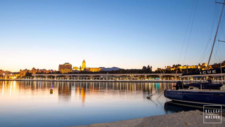 Malaga in een dag - avond in malaga
