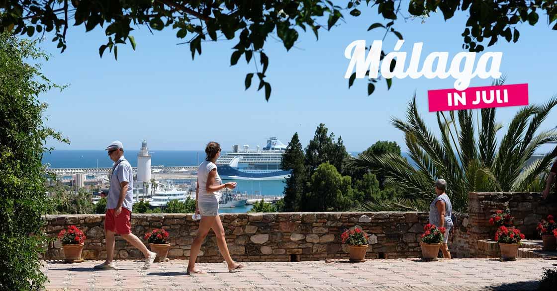 Málaga in juli