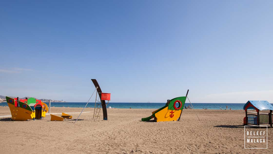 Malaga met kinderen strand
