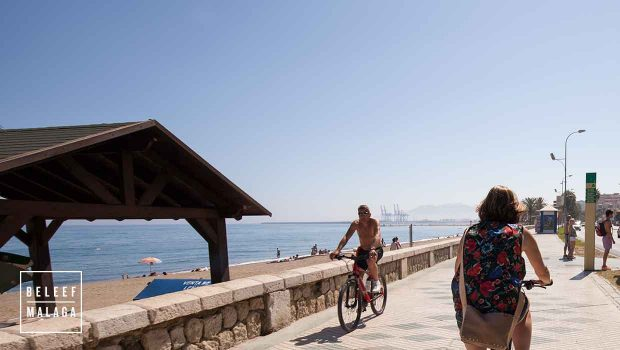 Malaga strand - fietsen stranden