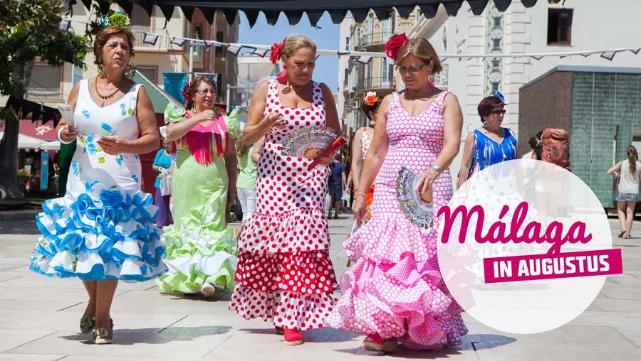 Málaga in augustus