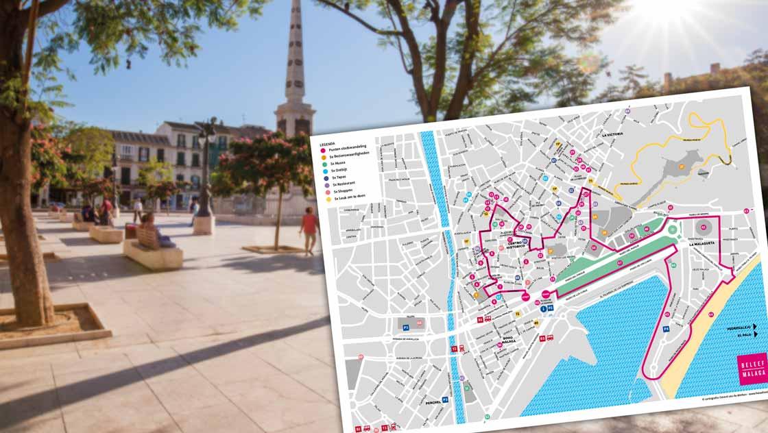Plattegrond Malaga reisgids
