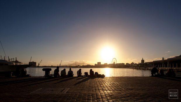 Mooiste zonsondergang Malaga