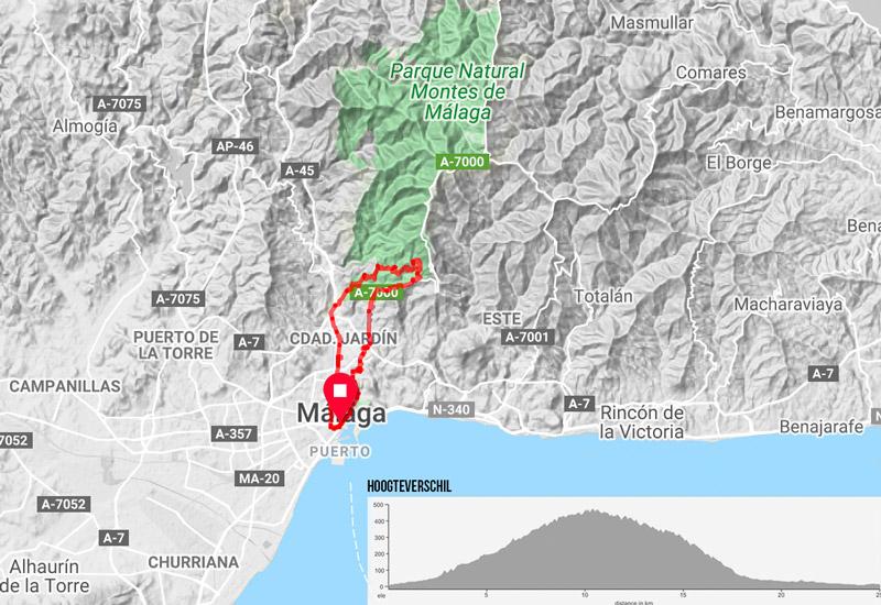 mountainbike malaga route