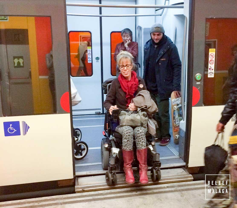 Malaga met een rolstoel