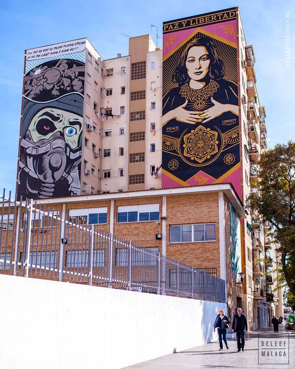 Soho Malaga wijk streetart