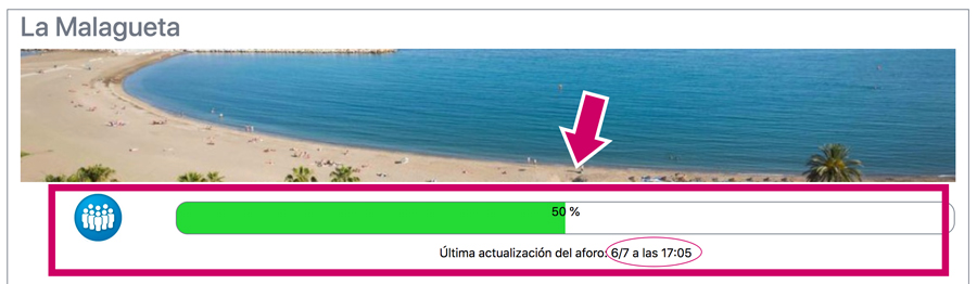 Stranden Malaga open