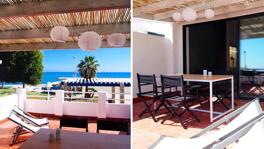 Malaga strandhuis aan zee