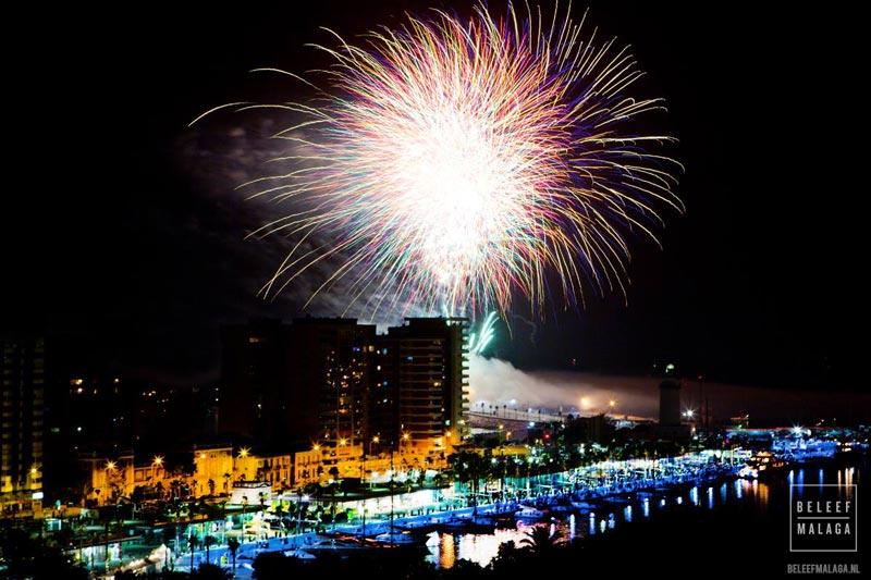 Vuurwerk Malaga Gibralfaro